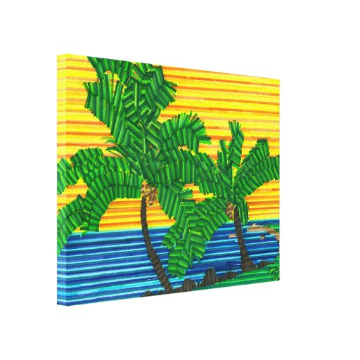 Jared's PALM TREE PARADISE canvas Canvas Print