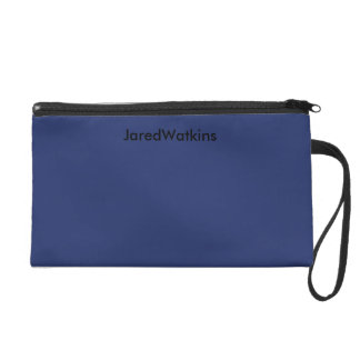 JaredWatkins navy blue logo wristlet Wristlet Purses