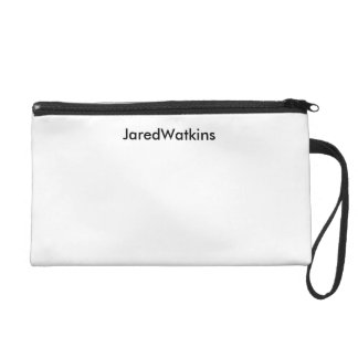 JaredWatkins white logo wristlet Wristlet Purse