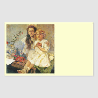 Jaroslava and Jira Sisters Rectangular Sticker