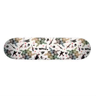 Jarovoj anti war design custom skate board