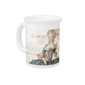Jarra antigua de la porcelana de Marie Antonieta