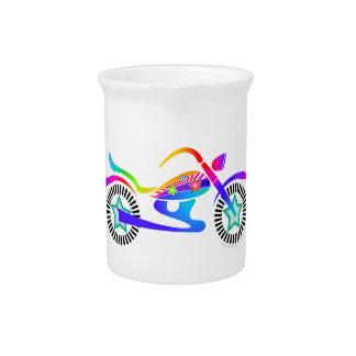Jarra de cerámica de la MOTOCICLETA del arte pop