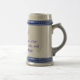 Jarra de cerveza de la aguamiel tazas de café