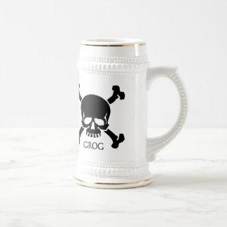 Jarra de cerveza de Stein del grog del pirata Taza De Café
