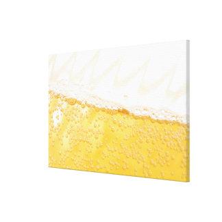 Jarra de cerveza impresión en lienzo estirada