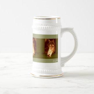 Jarra de cerveza para amantes de caballo taza