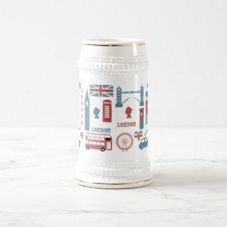 Jarra de cerveza retra del recuerdo del amor de