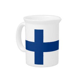 Jarra de la bandera de Finlandia