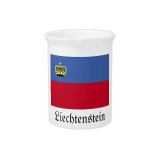 Jarra de la bandera de Liechtenstein