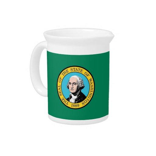 Jarra de la bandera del estado de Washington