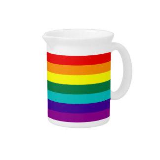 Jarra de la bandera del orgullo gay del arco iris