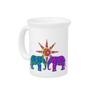 Jarra de la bebida del elefante de Paisley