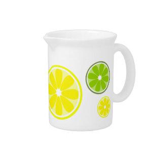 Jarra de la cal del limón