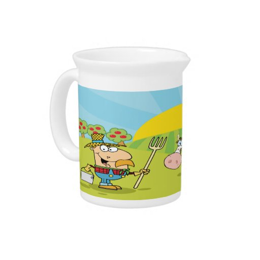jarra de la leche del corral
