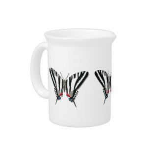 Jarra de la mariposa de Swallowtail de la cebra