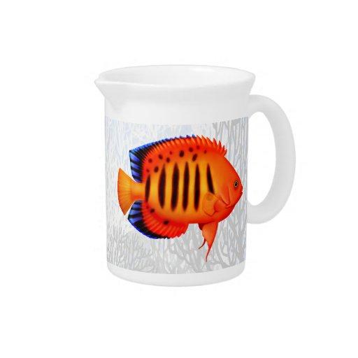 Jarra del Angelfish de la llama del arrecife de