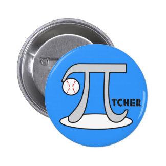 Jarra del béisbol - botón divertido del símbolo pin redondo de 2 pulgadas