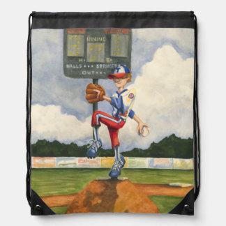 Jarra del béisbol en el montón de Jay Throckmorton Mochila
