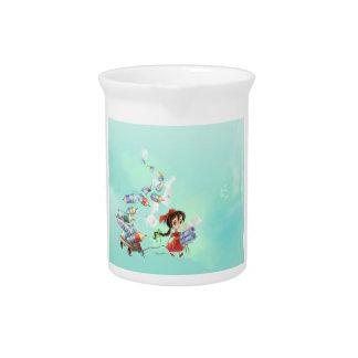 jarra del chica del dibujo animado