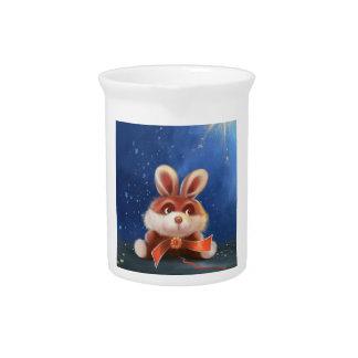 jarra del conejito del dibujo animado