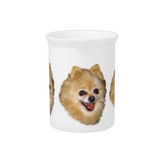 Jarra del personalizable del perro de Pomeranian