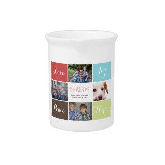 jarra del personalizado del collage de cuatro