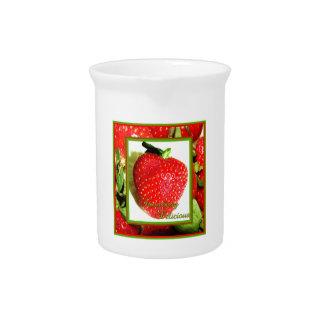 Jarra deliciosa de la fresa