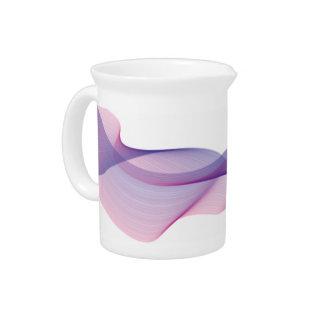 Jarra elegante de la púrpura de la onda