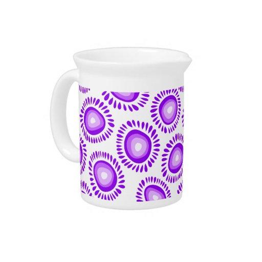 Jarra enrrollada púrpura preciosa de las flores
