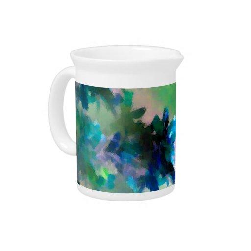 Jarra floral azul