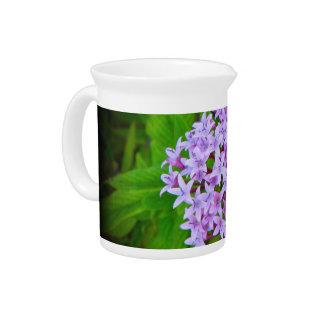 Jarra floral púrpura tropical Hawaii