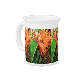 Jarra hawaiana de la flor de Heliconia