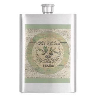 Jarra italiana del aceite de oliva del vintage petacas