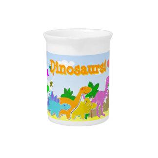 Jarra linda de la limonada de los dinosaurios