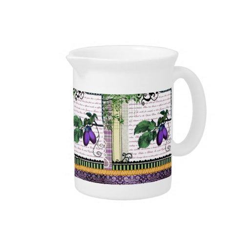 Jarra púrpura del jarro del arte de la fruta del c
