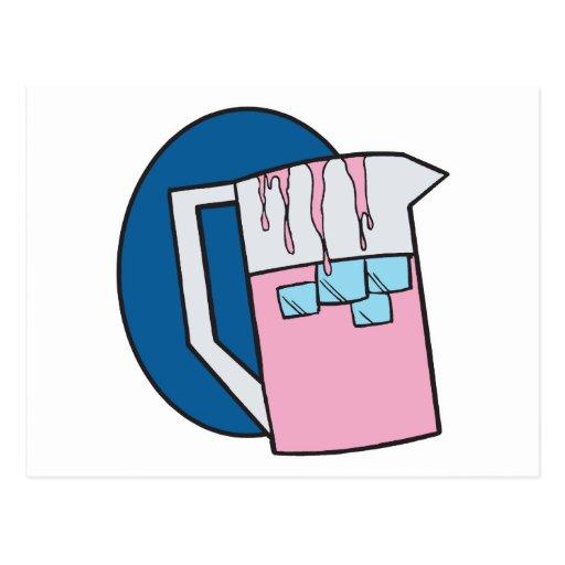 jarra rosada fría helada de la limonada postales