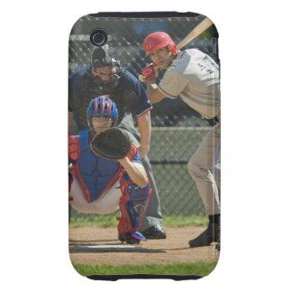 Jarra, talud y árbitro del béisbol en listo tough iPhone 3 carcasas
