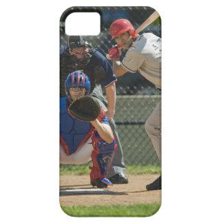 Jarra, talud y árbitro del béisbol en listo iPhone 5 carcasa