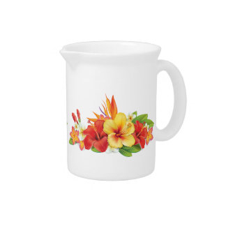 Jarra tropical del hibisco