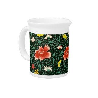 Jarra verde floral china