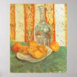 Jarra y limones en la placa, Vincent van Gogh Póster