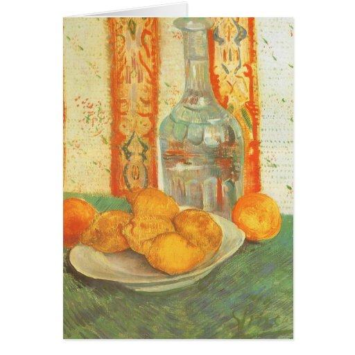 Jarra y limones en la placa, Vincent van Gogh Tarjeta De Felicitación
