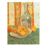 Jarra y limones en la placa, Vincent van Gogh Postal