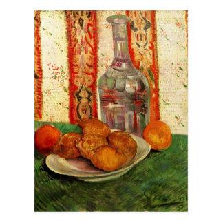 Jarra y limones en una placa de Van Gogh Tarjeta Postal