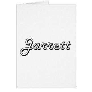 Jarrett Classic Retro Name Design Greeting Card