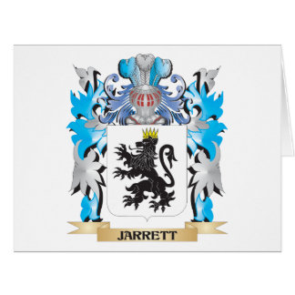 Jarrett Coat of Arms - Family Crest Large Greeting Card