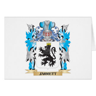Jarrett Coat of Arms - Family Crest Stationery Note Card