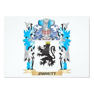 Jarrett Coat of Arms - Family Crest 5x7 Paper Invitation Card