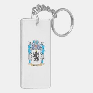Jarrett Coat of Arms - Family Crest Rectangular Acrylic Keychain